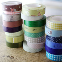 Masking Tape Patterned Single